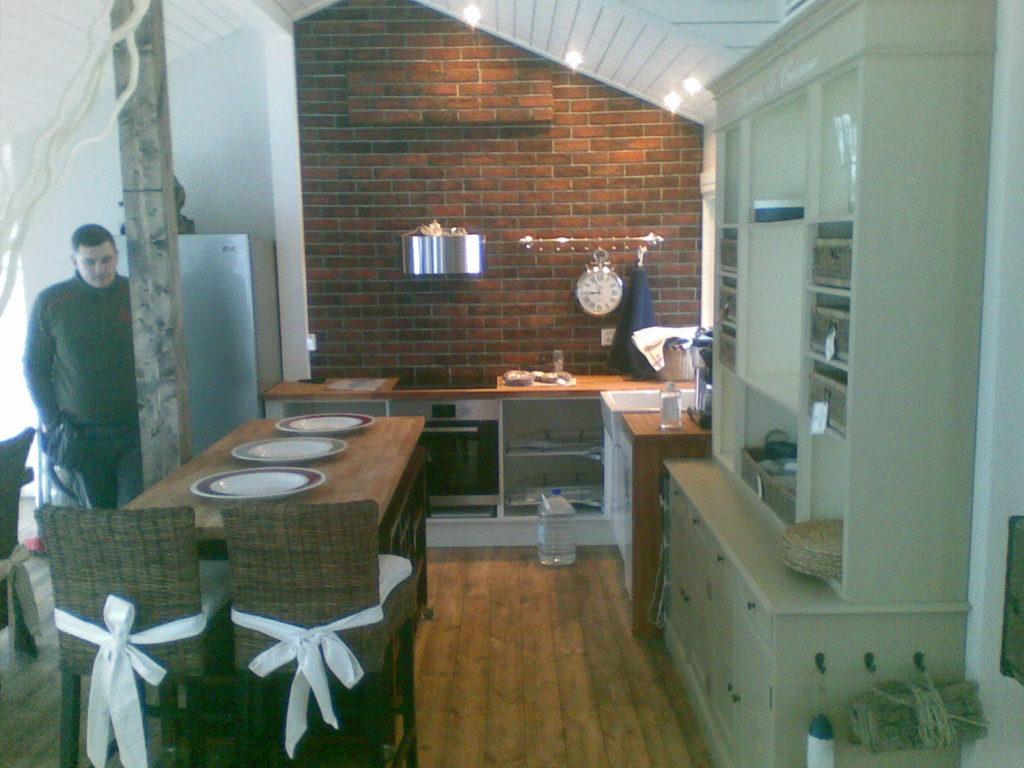 Köögi ehitamine suvilas.Sipoo Soome.