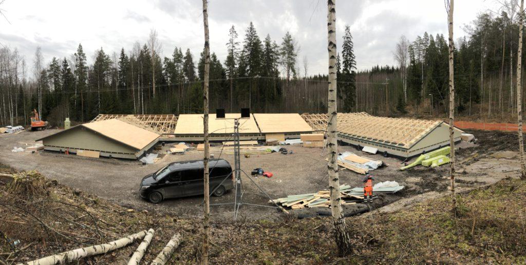 Katusemoodulite valmistamine. Askola Soome.