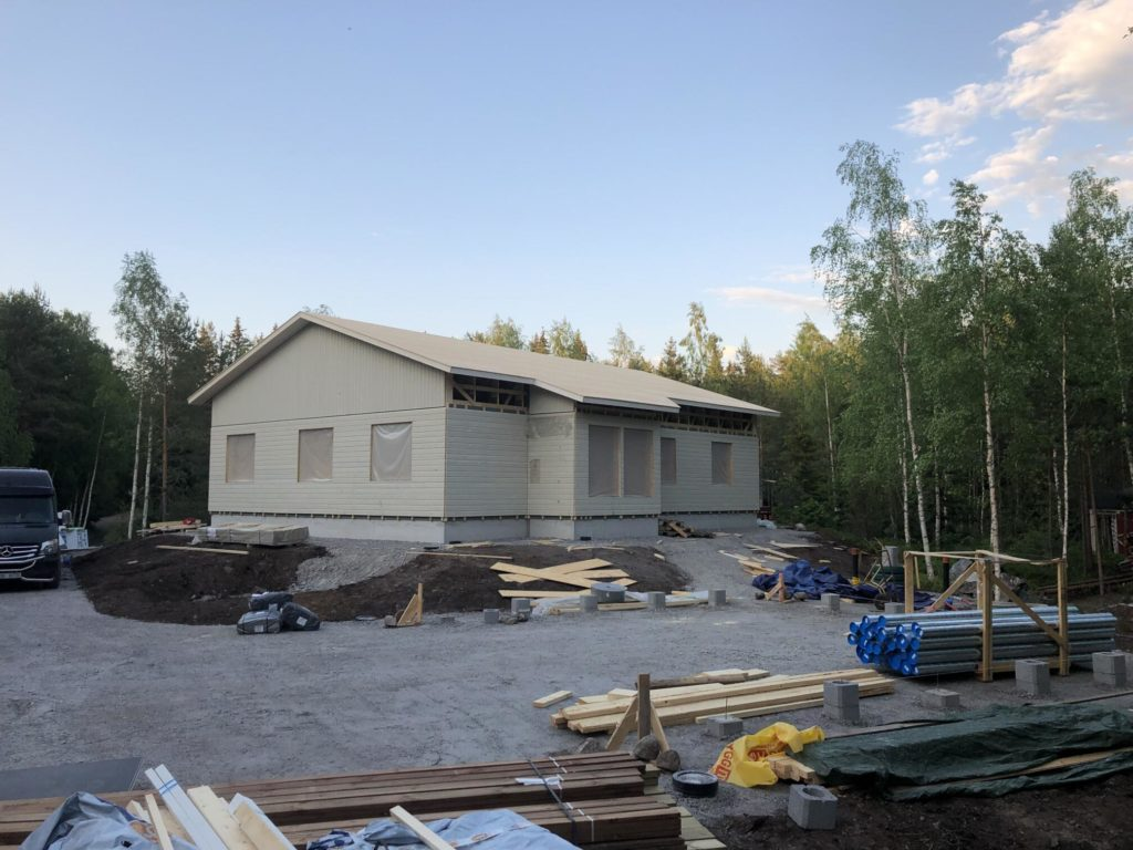 OSB katuse tegemine. Turku Soome.