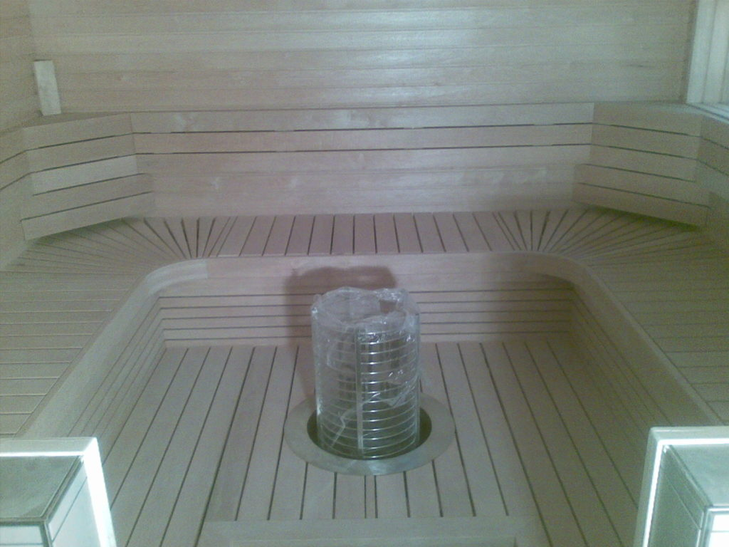 Saunalava ehitamine. Sipoo Soome.
