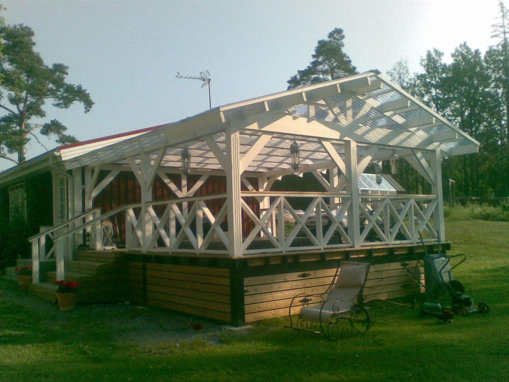 Välimullivannile terassi ehitamine. Sipoo Soome.
