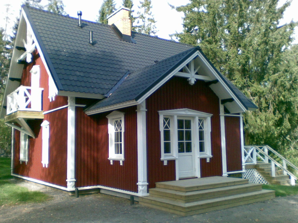 Voodri paigaldus Katuse tööd Terassi ehitus. Sipoo Soome.